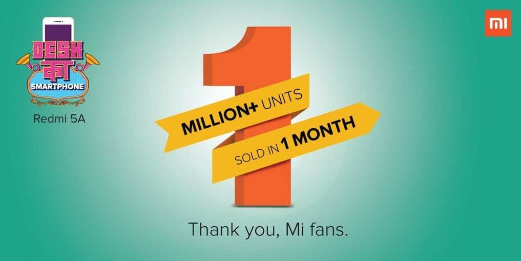 1 millón de unidades Xiaomi India