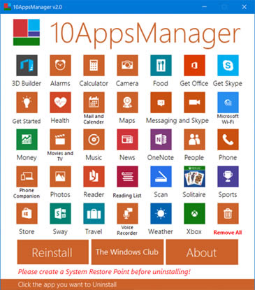 10AppsManager desinstalar programas en Windows 10