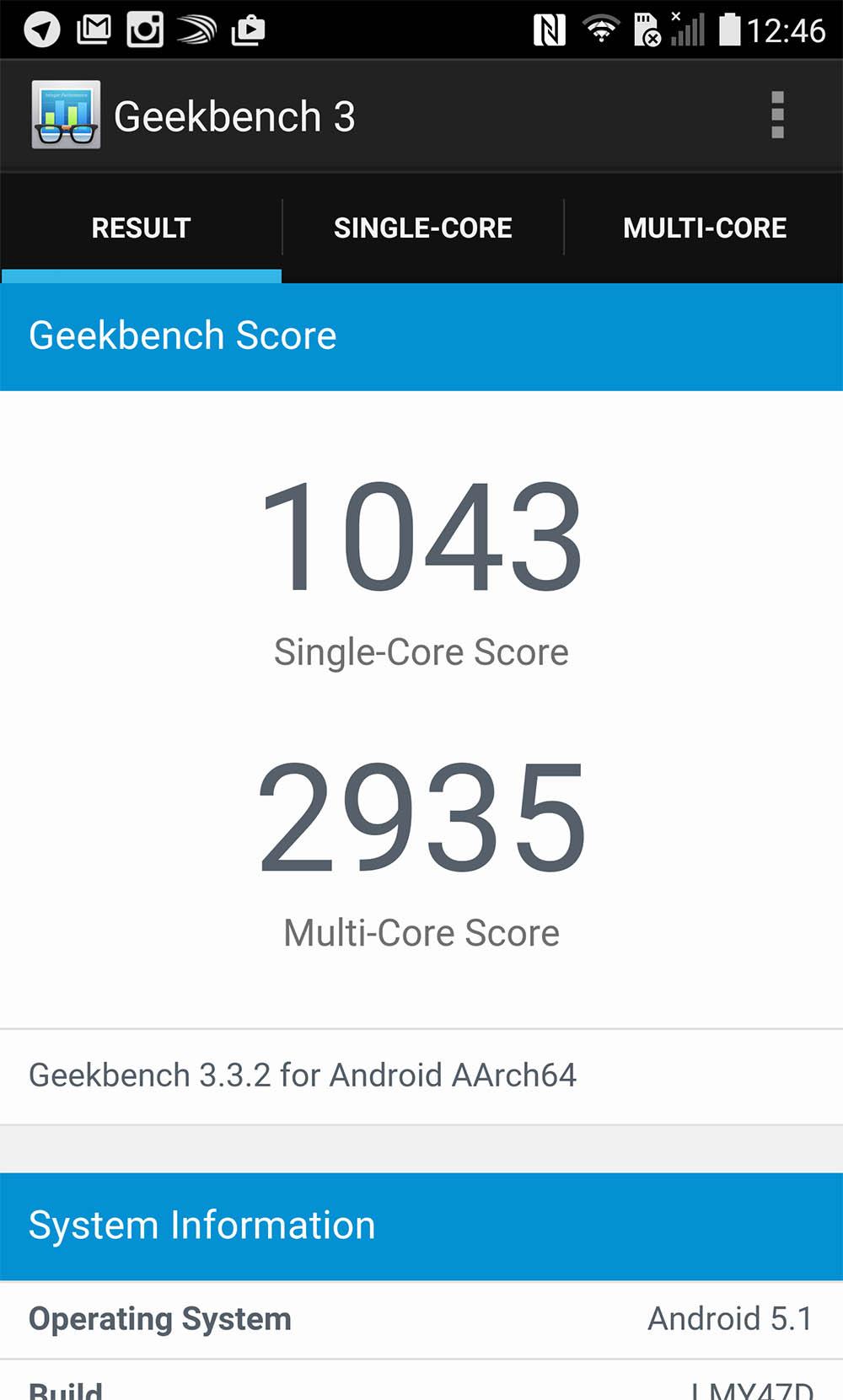 LG G4 Geekbench