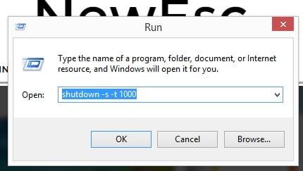 Apagar ordenador Windows 10