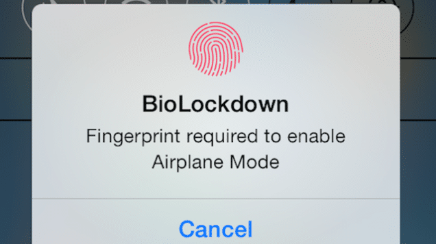 BIOLOCKDOWN tweak Cydia