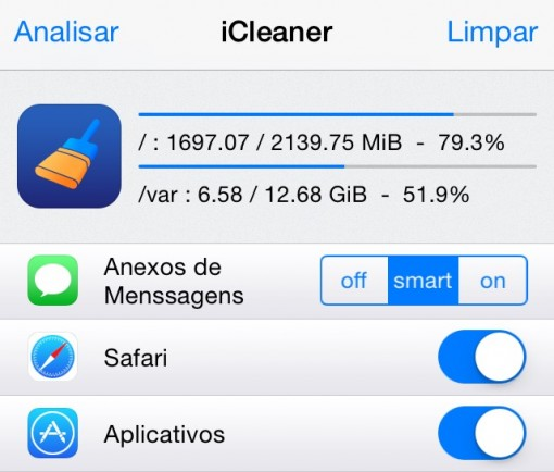 ICLEANER tweak Cydia