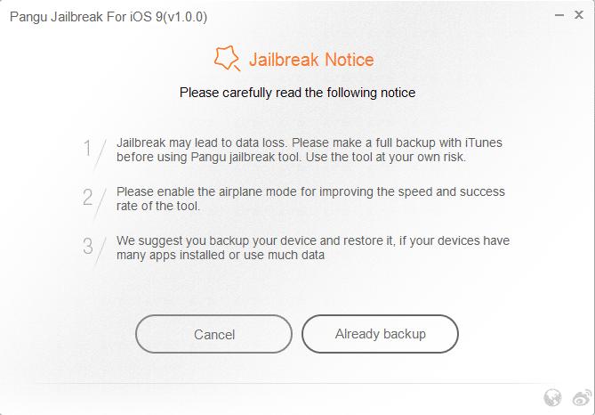 Pangu iOS 9 paso 2