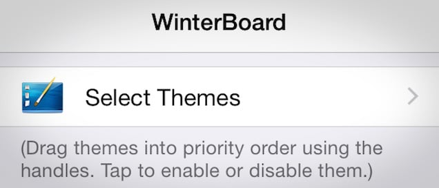 WINTERBOARD tweak Cydia