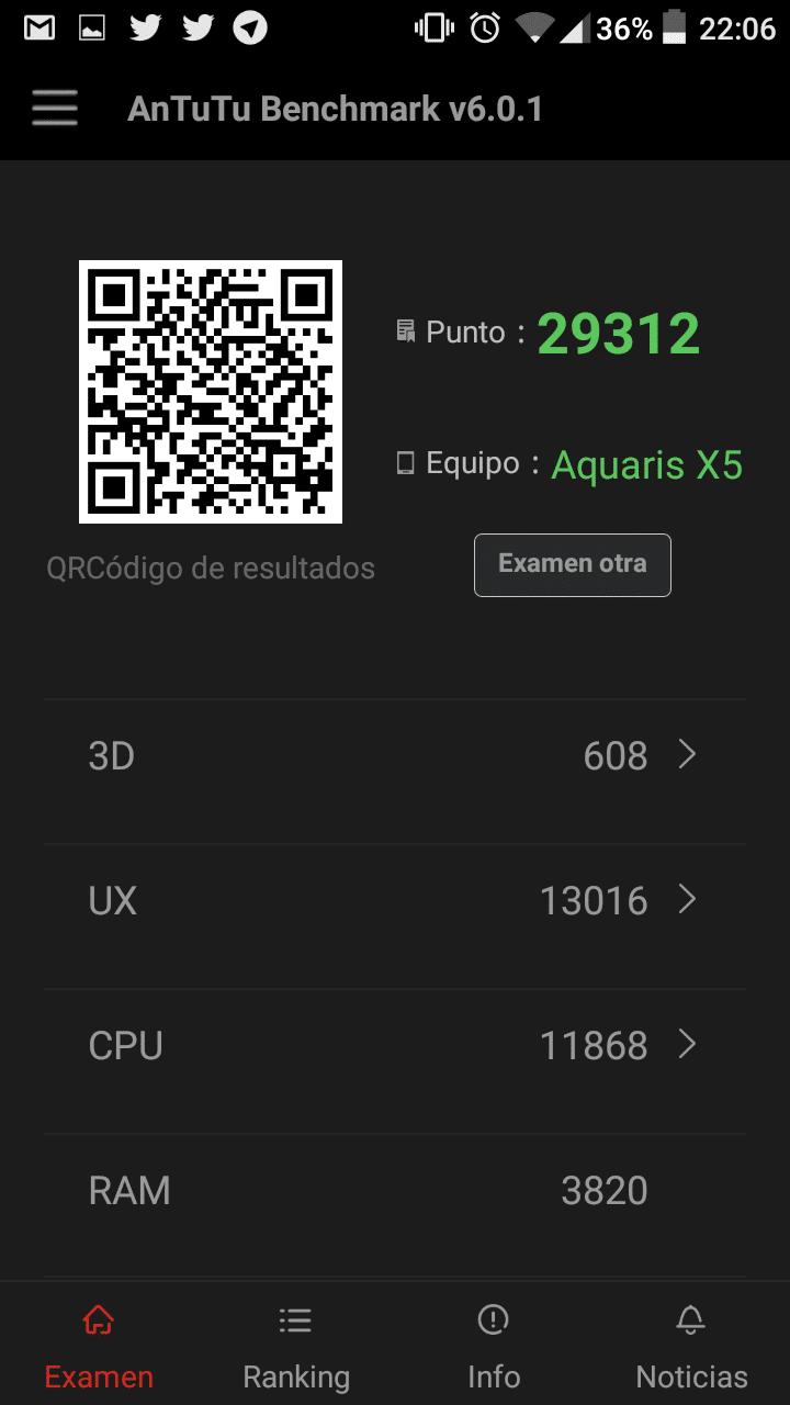 Antutu Aquaris X5