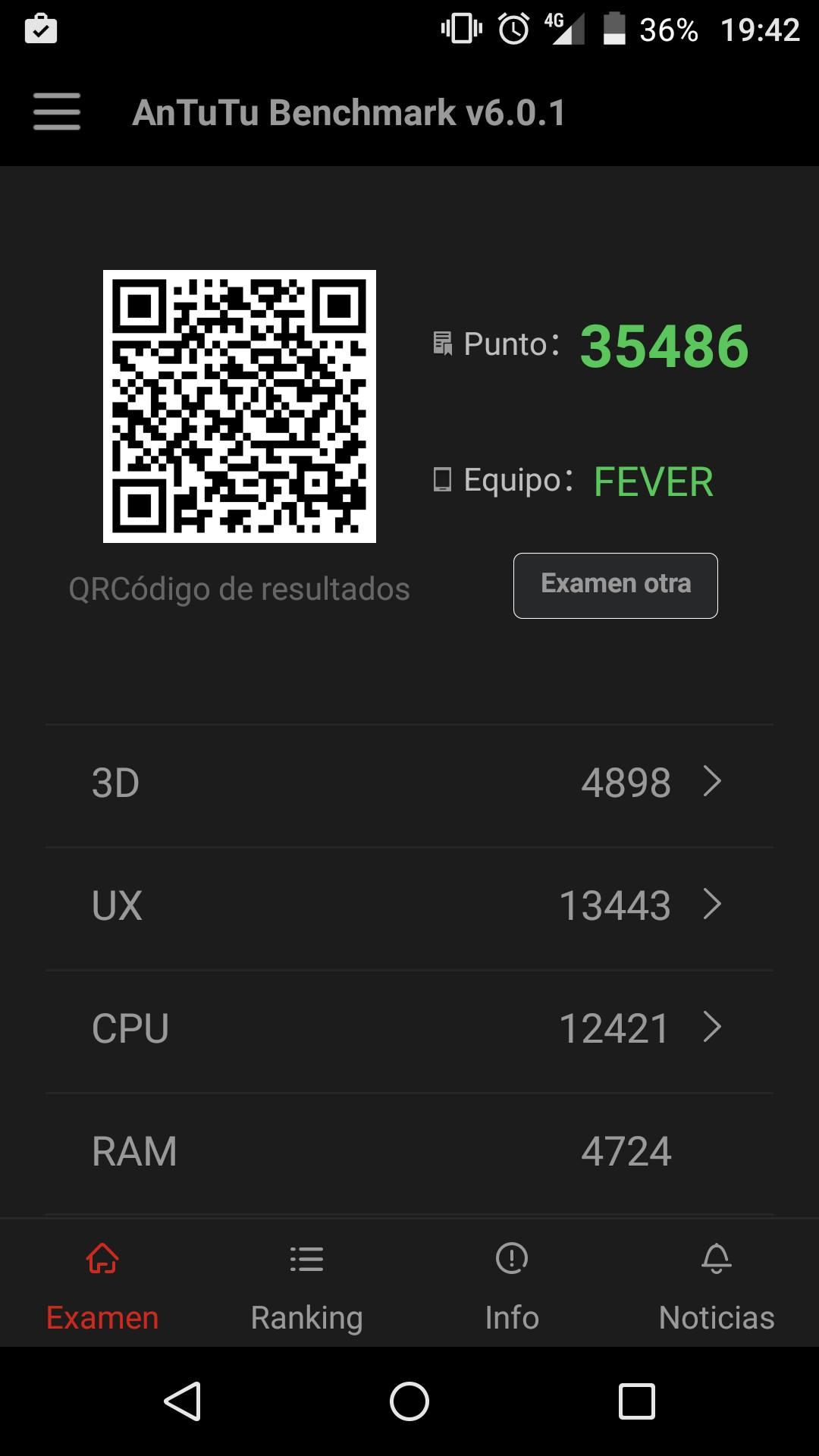 Wiko Fever 4G AnTuTu
