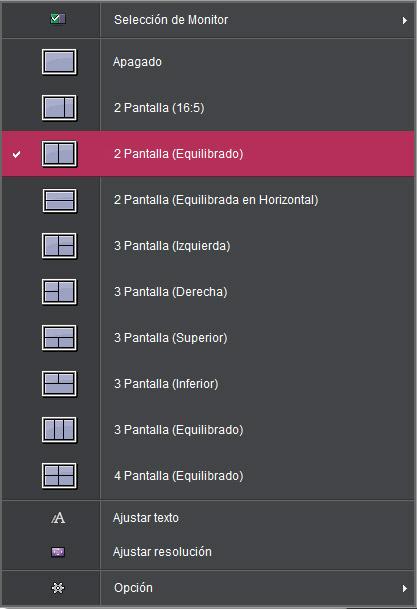 Configuraciones Screen Split