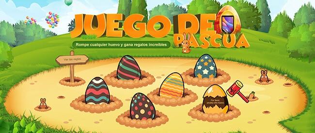 4 Aniversario GearBest Juego de los Huevos de Pascua
