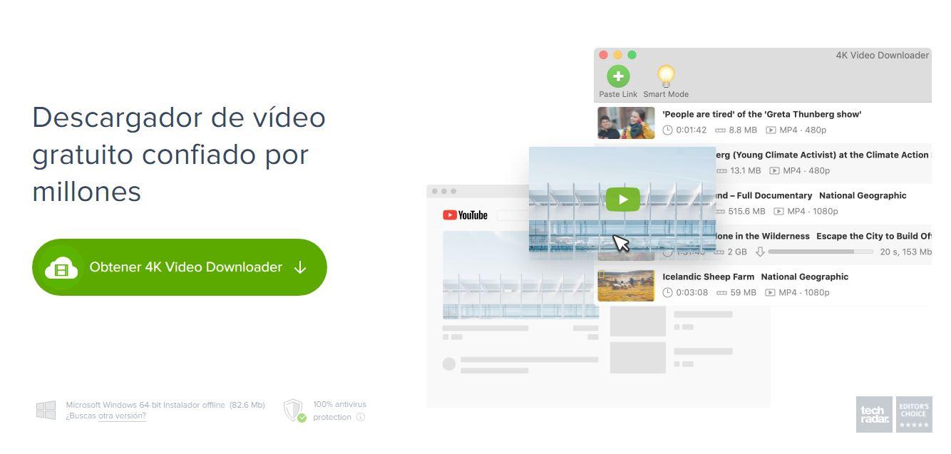 4K Video Downloader Descargador de videos