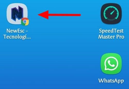 Añadir página web pantalla Inicio Android Google Chrome5 min