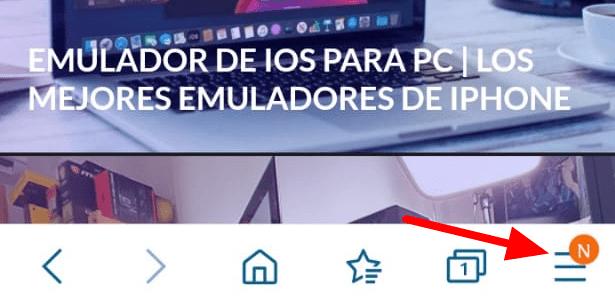 Añadir página web pantalla Inicio Android Samsung Browser1 min