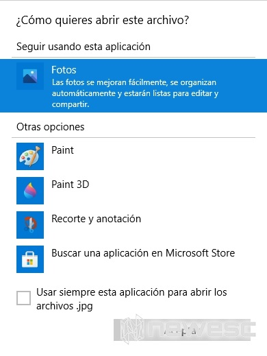 Abrir con Windows 10