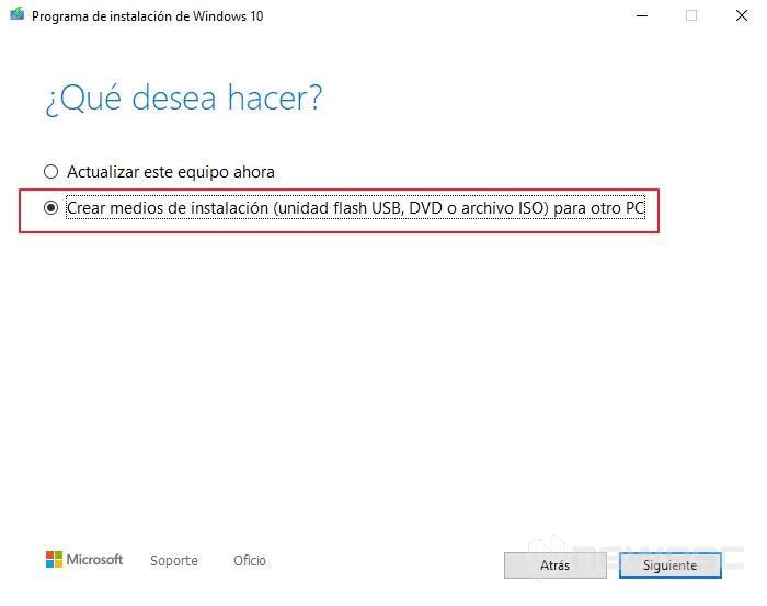 Activar windows 10 asistente de instalacion