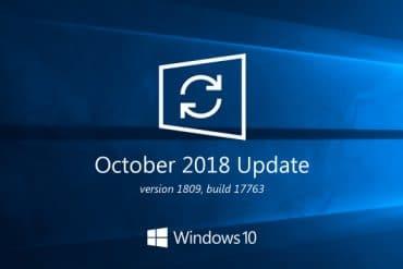 Actualizar Windows 10 octubre 2018