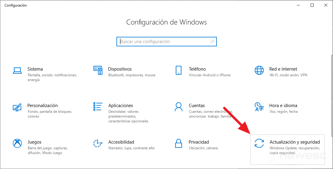 Actualizar drivers en Windows 10 con Windows Update 2
