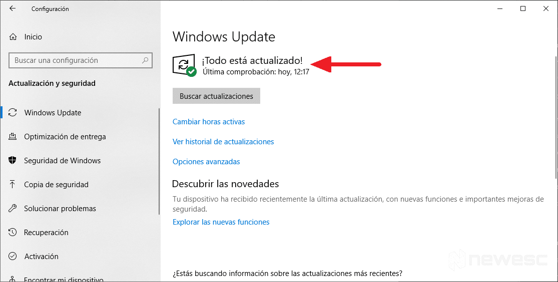 Actualizar drivers en Windows 10 con Windows Update 4