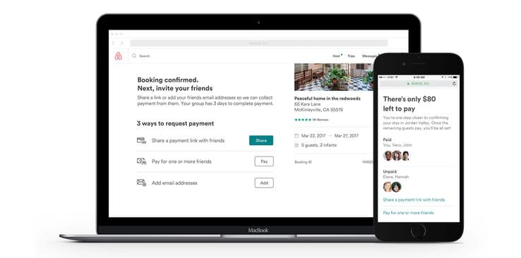 Airbnb pagos divididos