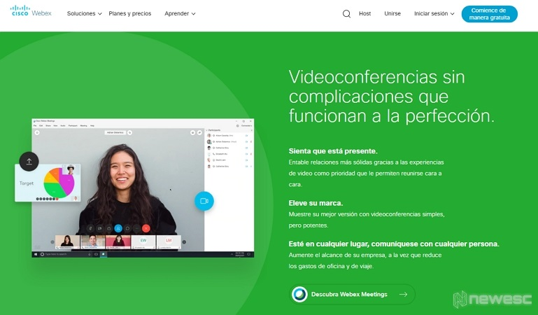 Alternativas a TeamViewer WebEx Meetings
