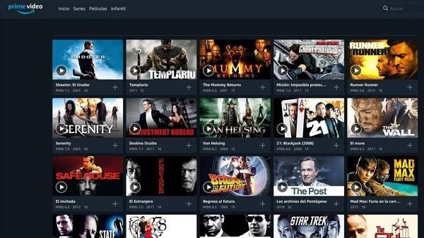 Amazon Prime Video Inicio