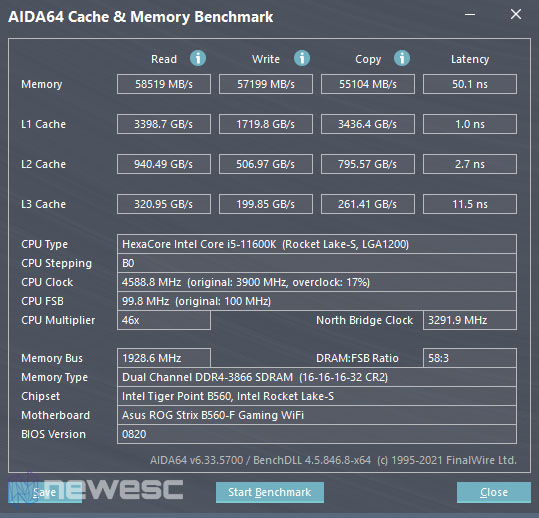 Asus ROG Strix B560 F Gaming WiFi Aida