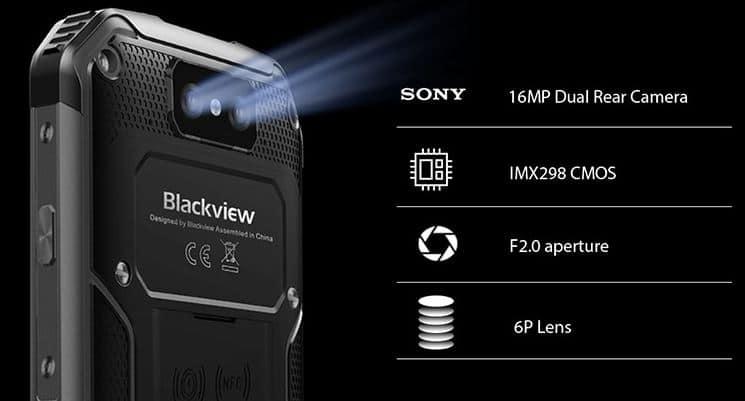 BlackView BV9500 cámara trasera