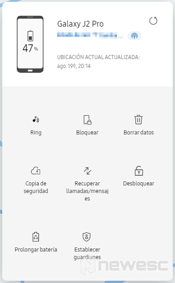 Bloquear celular Samsung robado