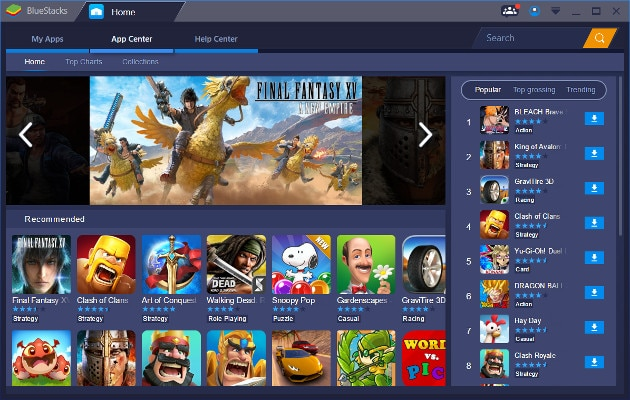 Emulador Android BlueStacks 3.0