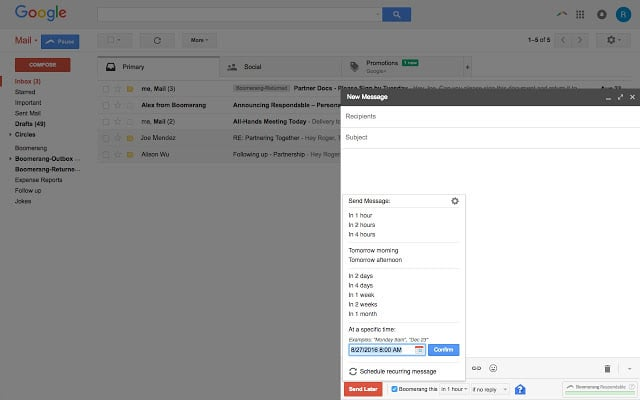Boomerang for Gmail Plugin para Chrome