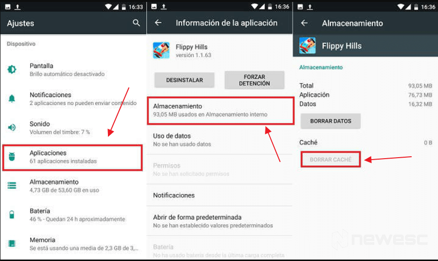 Borrar caché en Android sin apps individualmente