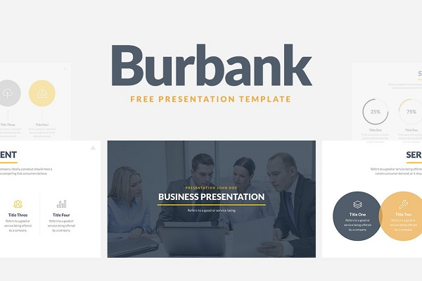 Burbank business Presentation plantilla PowerPoint