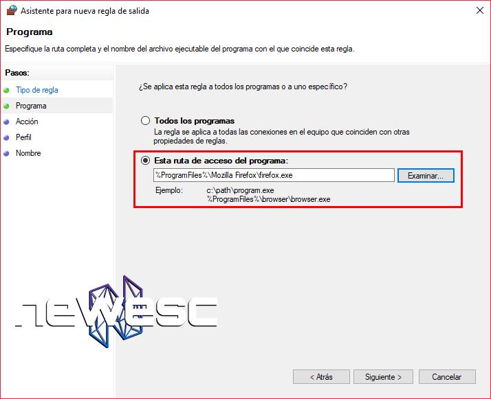 Cómo Bloquear un Programa con el Firewall de Windows 10 - 6