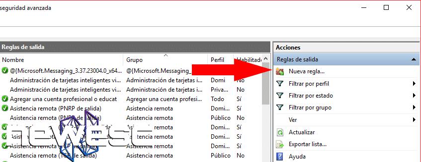 Cómo Bloquear un Programa con el Firewall de Windows 10 - Crear regla