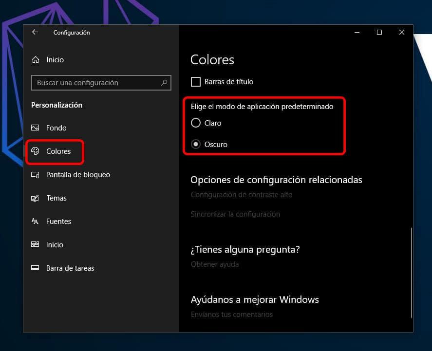 Cómo activar el modo oscuro para las configuraciones y apps de Windows