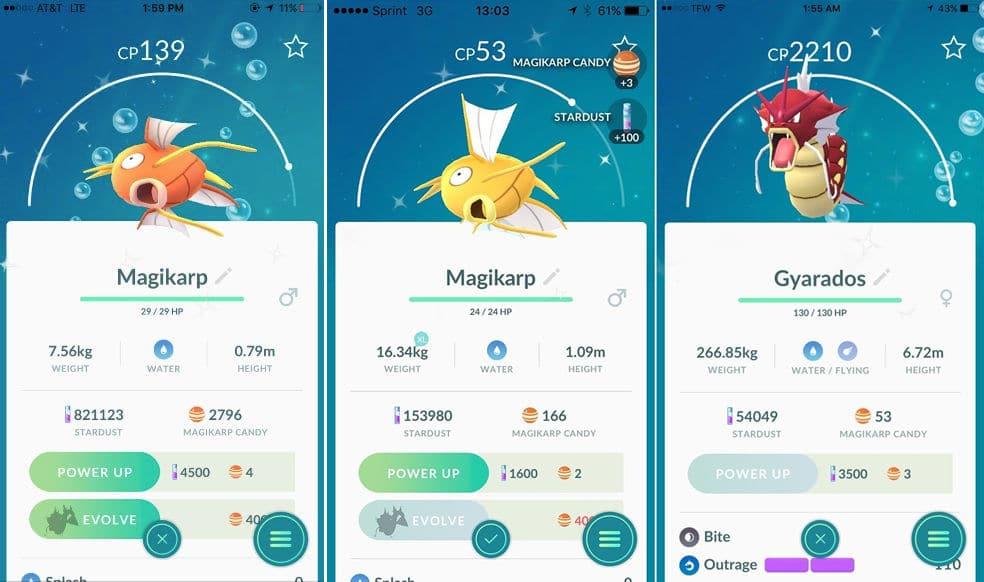 Cómo conseguir un Gyrados Rojo en Pokémon GO