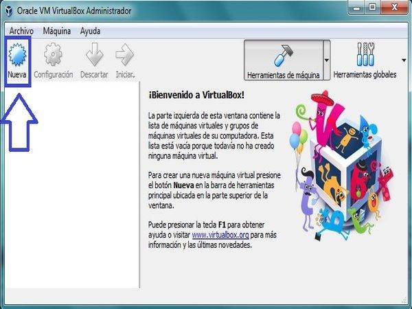 Cómo crear una máquina virtual paso 2