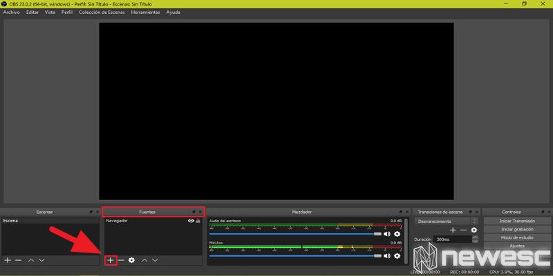 Cómo grabar la pantalla en Windows 10 con OBS 1