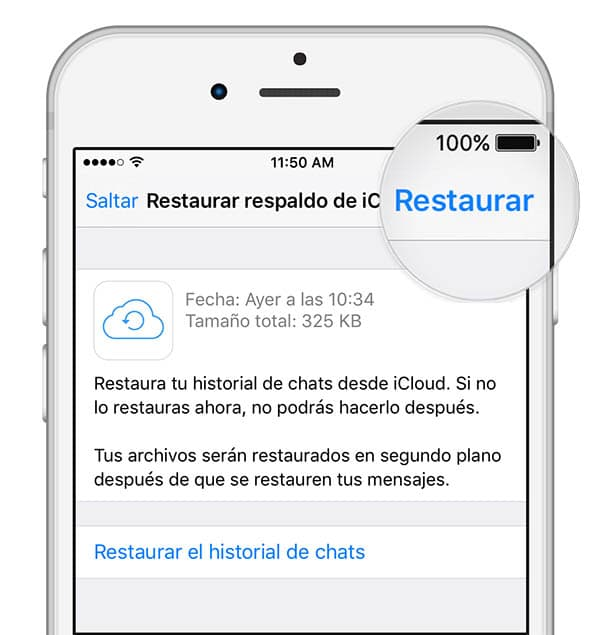 Cómo restaurar tu copia de seguridad en iOS (iPhone)