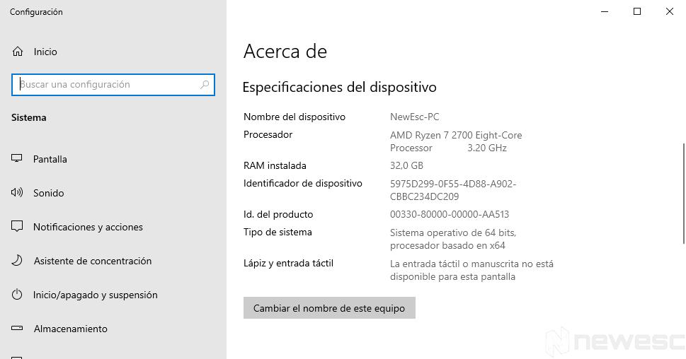 Cómo saber si mi ordenador es de 32 o 64 bits 003