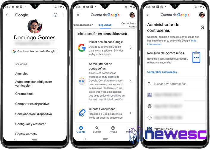 Cómo ver las Contraseñas guardadas en Android Google