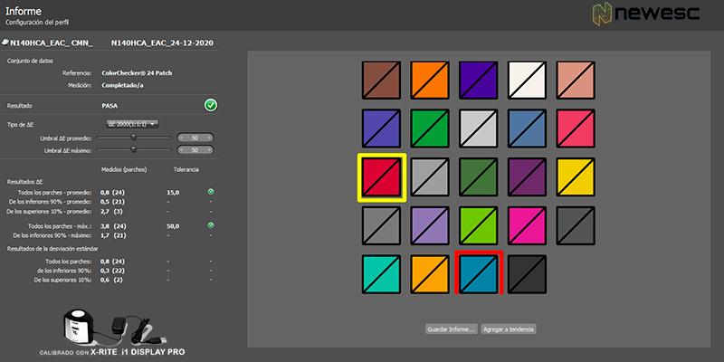 Calibración colores
