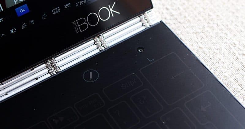 Camara trasera y boton lapiz Lenovo Yoga Book NewEsc