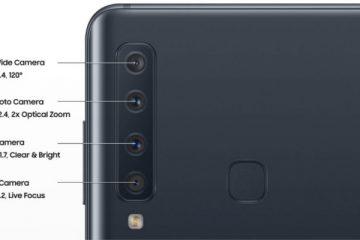 Camaras posteriores Samsung Galaxy A9