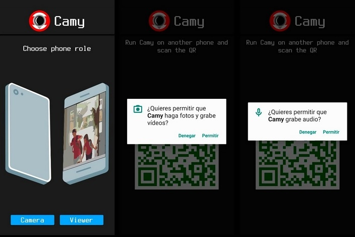Camy app cámara de seguridad