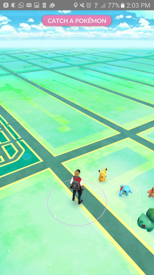 Capturar pikachu Pokemon Go