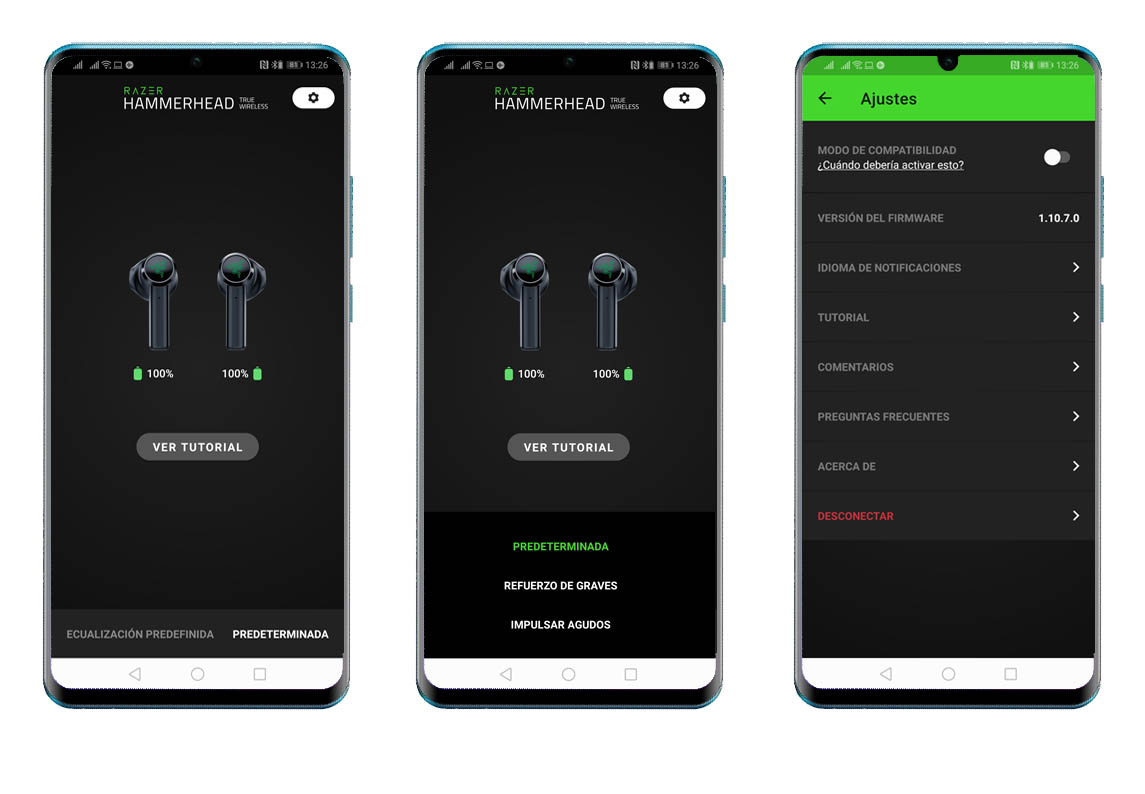 Capturas app Razer Hammerhead True Wireless