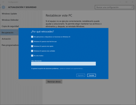 Causas por las cuales eliminar Windows 10