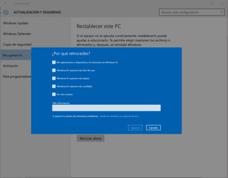 Causas por las cuales eliminar Windows 10