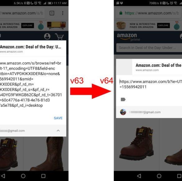 Chrome recortar enlace compartir