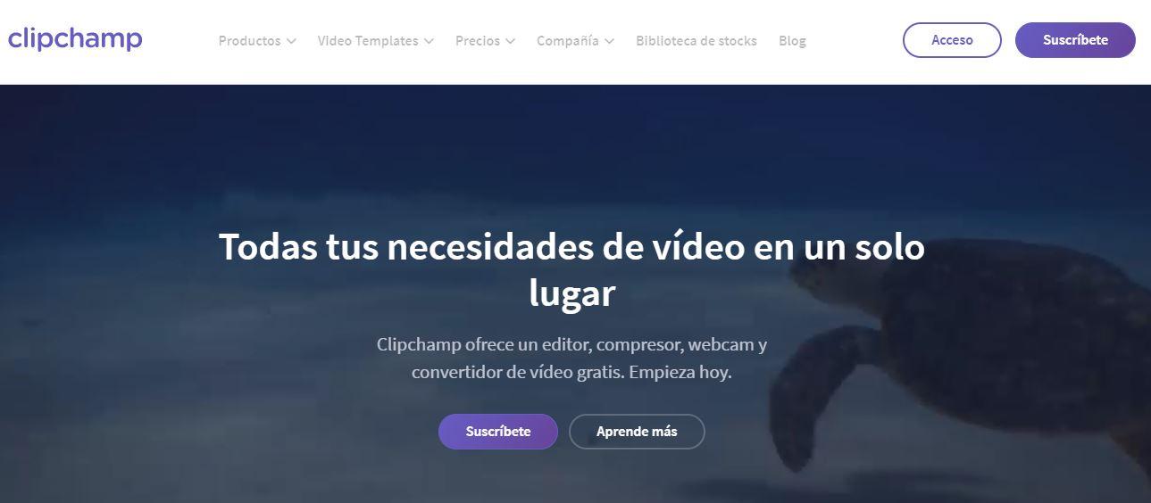 ClipChamp Los mejores editores de video online