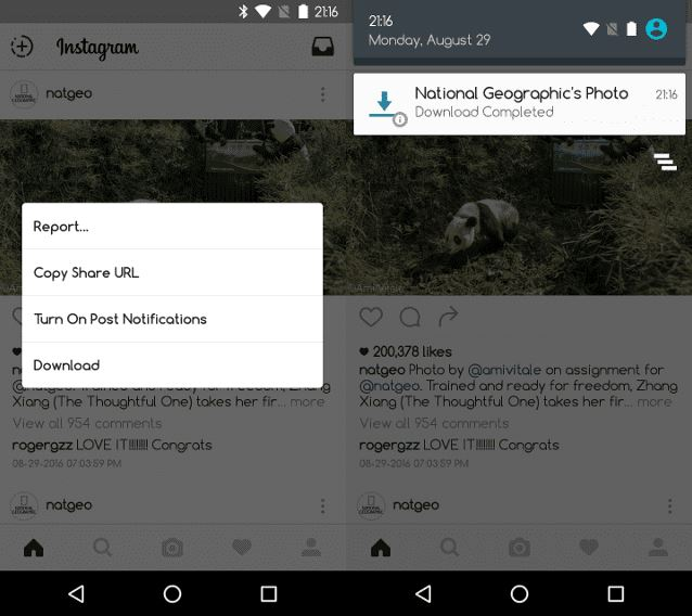 Como descargar fotos en Instagram Android Xposed Xinsta